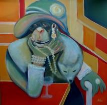 Lady Maud, Acryl auf LW, 60 x 60 cm, © Anja Hühn2014